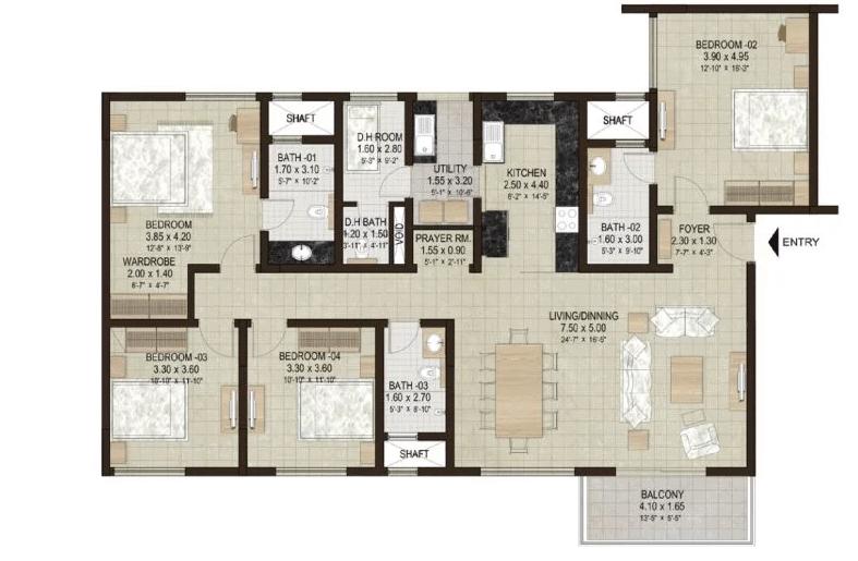 sobha hrc pristine floor plans