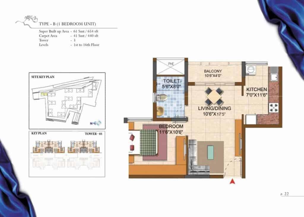 Prestige Royale Gardens Floorplan