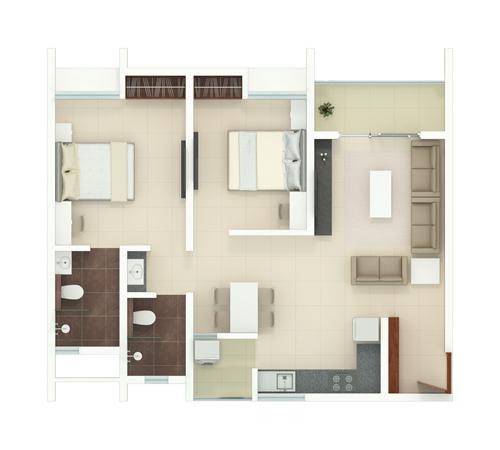 Rohan Akriti Floorplans