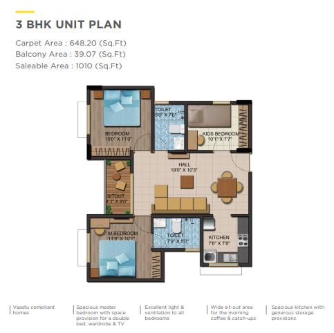 Shriram Liberty Square Floorplan